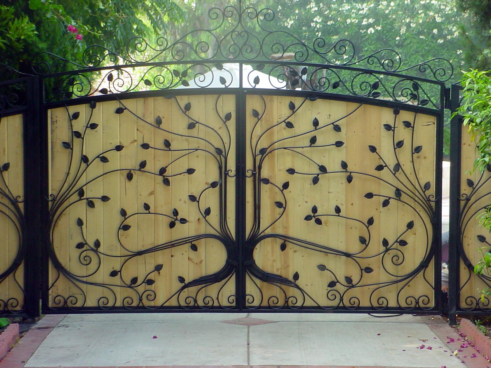 1200 #426634  Iron Gates Wrought Iron Window Guards Wrought Iron Doors image Iron Gate Doors 6531600